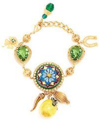 Dolce & Gabbana - Floral And Lemon-charm Embellished Bracelet - Lyst