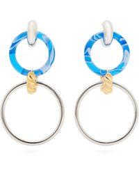 cd4e7081ab56f Balenciaga Bottle Cap Earrings in Blue - Lyst