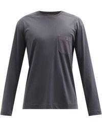 Zimmerli Cotton-blend Jersey Long-sleeved T-shirt - Grey