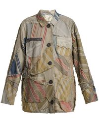 By Walid | Linda 19th-century Patchwork Linen Jacket | Lyst