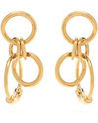Chloé - Drop Hoop Earrings - Lyst