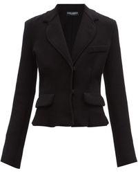 Dolce & Gabbana シングルツイルジャケット - ブラック