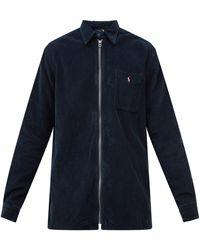 Polo Ralph Lauren ジップアップ コットンコーデュロイシャツ - ブルー