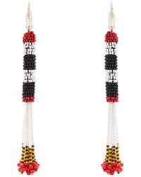Isabel Marant - Bead-embellished Tassel-drop Earrings - Lyst