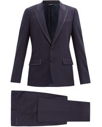 Dolce & Gabbana ウールブレンドツイル ツーピースタキシードスーツ - ブルー