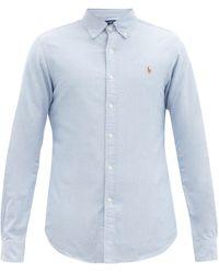 Polo Ralph Lauren スリムフィット コットンオックスフォードシャツ - ブルー