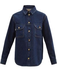 Blazé Milano Narida Berber Denim Shirt - Blue