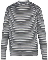 Lanvin - Striped Long Sleeved Cotton T Shirt - Lyst