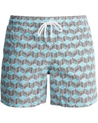 Vilebrequin - Fishes Cube Print Swim Shorts - Lyst