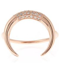 Jacquie Aiche - Diamond & Rose-gold Ring - Lyst