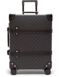 Gucci Medium Globetrotter GG Suitcase - Black