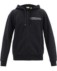 7 Moncler Frgmt Hiroshi Fujiwara Thunderbolt Project Hooded Zip-up Sweatshirt - Black