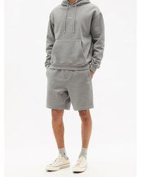 FRAME Drawstring-waist Cotton-blend Jersey Shorts - Gray