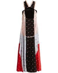 Valentino | Floral-print Chiffon Dress | Lyst