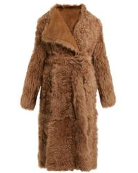 Yves Salomon - Wrap-front Shearling Coat - Lyst