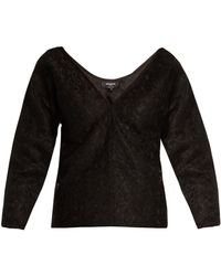 Rochas - Off The Shoulder Floral Lace Top - Lyst