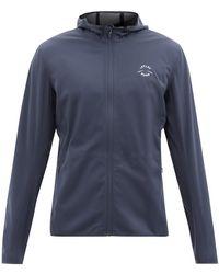 Iffley Road Richmond Hooded Softshell Jacket - Blue