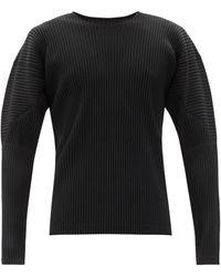 Homme Plissé Issey Miyake Homme Plissé Issey Miyake ロングスリーブtシャツ - ブラック