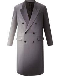 Fendi Ombré Wool-twill Coat - Grey