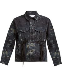 Proenza Schouler Tie-dye Panelled Denim Jacket - Black
