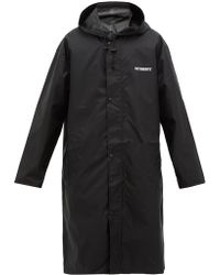 Vetements Copyright Print Technical Fabric Raincoat