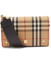 Burberry Hackberry Vintage-check Canvas Cross-body Bag - Natural