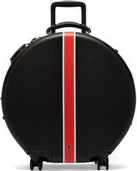 OOKONN Front-stripe Circular Check-in Suitcase - Black