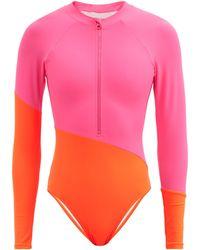 Cynthia Rowley Maillot de surf colour-block Nazare - Rose