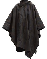 Toogood Cape en coton ciré à carreaux The Nomad - Noir