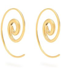 Noor Fares - Spiral Yellow-gold Earrings - Lyst