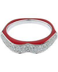 Raphaele Canot | Omg! Diamond, Enamel & White-gold Ring | Lyst