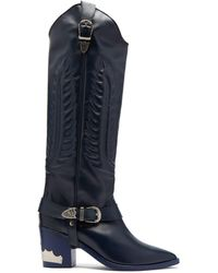 Toga - Leather Knee High Boots - Lyst