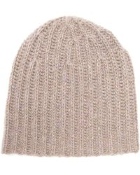 Gabriela Hearst Donegal Rib Knitted Cashmere Beanie Hat - Multicolor