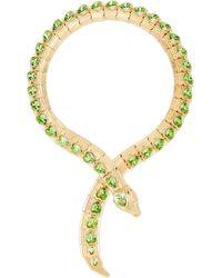Gucci Crystal-embellished Snake Necklace - Metallic