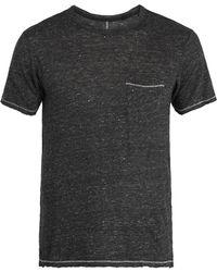 Rag & Bone - Owen Patch-pocket Linen T-shirt - Lyst