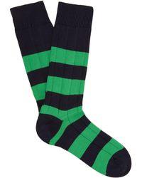Pantherella - Scott Nichol Ely Ribbed Knit Socks - Lyst