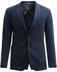 Polo Ralph Lauren コットンブレンドピケ シングルジャケット - ブルー