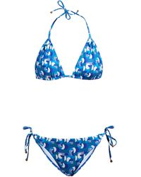 Thorsun Alex Geometric-print Triangle Bikini - Blue