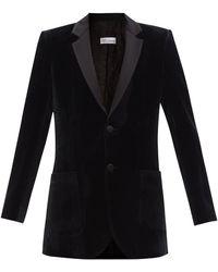 RED Valentino Single-breasted Velvet Blazer - Black