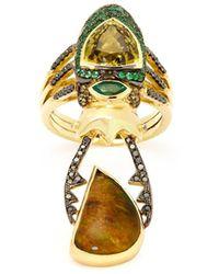 Daniela Villegas - Circe Diamond, Sapphire & 18kt Gold Ring - Lyst