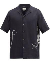 Ksubi スネーク ツイルシャツ - ブラック