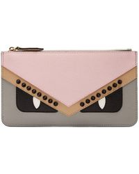 Fendi - Bag Bugs Saffiano-leather Cardholder - Lyst