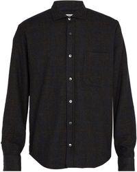 Inis Meáin - Checked Wool Blend Bouclé Shirt - Lyst