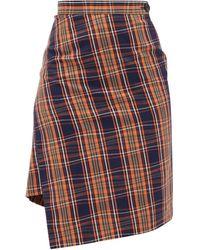 Vivienne Westwood Infinity Asymmetric Tartan Cotton Skirt - Multicolour