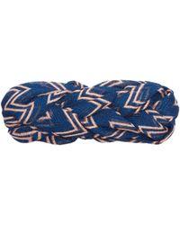 Missoni Bandeau tressé en maille à motif zigzag - Bleu