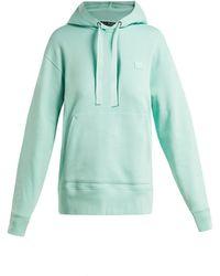 Acne Studios - Ferris Face Cotton Hooded Sweatshirt - Lyst