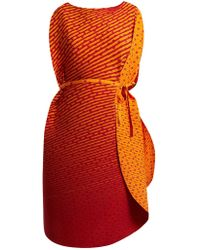 Issey Miyake - Pleated Cocoon Dress - Lyst