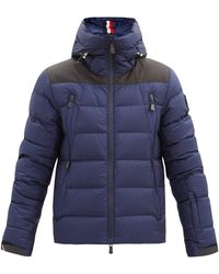 3 MONCLER GRENOBLE Camurac Hooded Quilted Down Ski Jacket - Blue