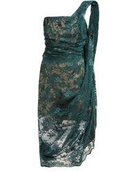 Vivienne Westwood Asymmetric Floral-lace Bustier Midi Dress - Green