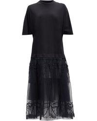 Simone Rocha チュールスカート Tシャツドレス - ブラック